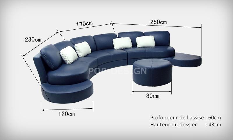 canape d39angle design en cuir pleine fleur foggia With tapis champ de fleurs avec canape cuir de luxe italien