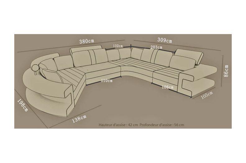 Dimensions du canapé