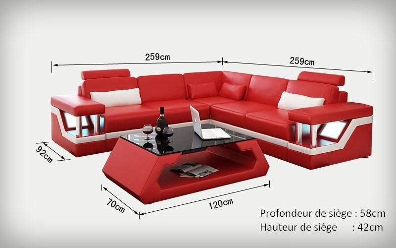 canap d 39 angle design en cuir v ritable tosca l clairages. Black Bedroom Furniture Sets. Home Design Ideas