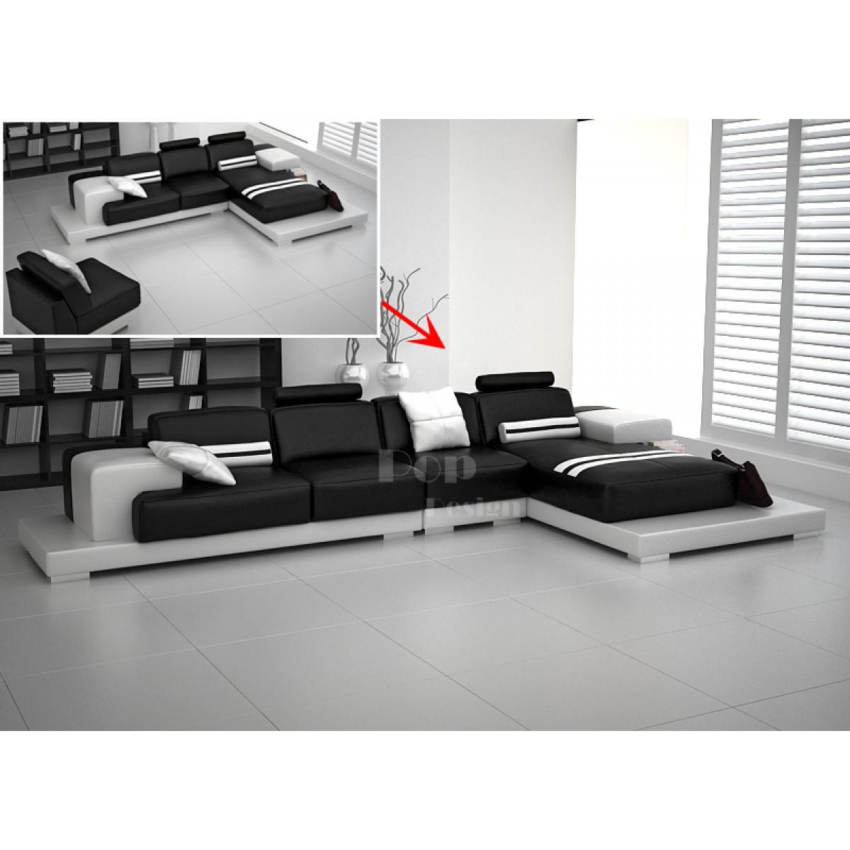 canap d 39 angle design en cuir pleine fleur pino. Black Bedroom Furniture Sets. Home Design Ideas