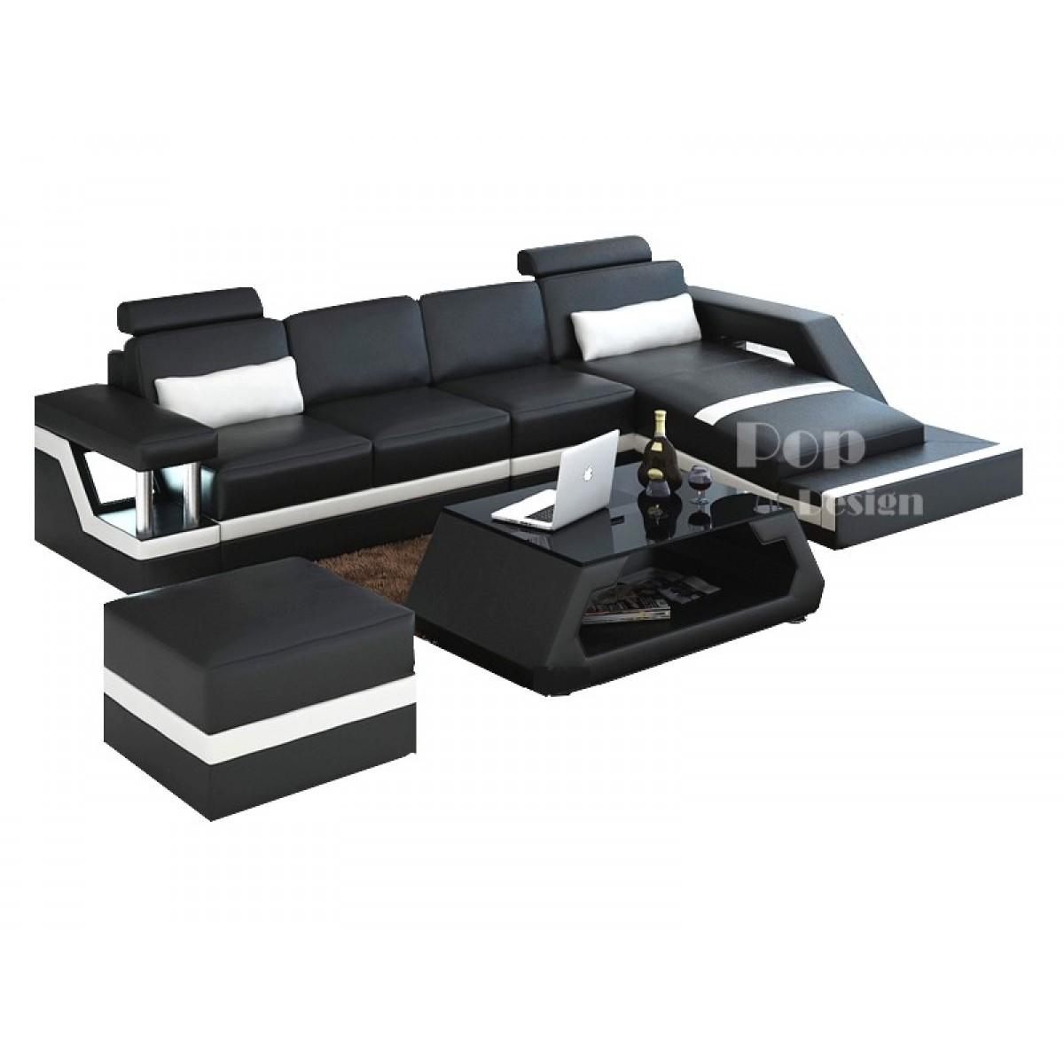 canap canap d angle luxe ambre r versible noir et gris. Black Bedroom Furniture Sets. Home Design Ideas