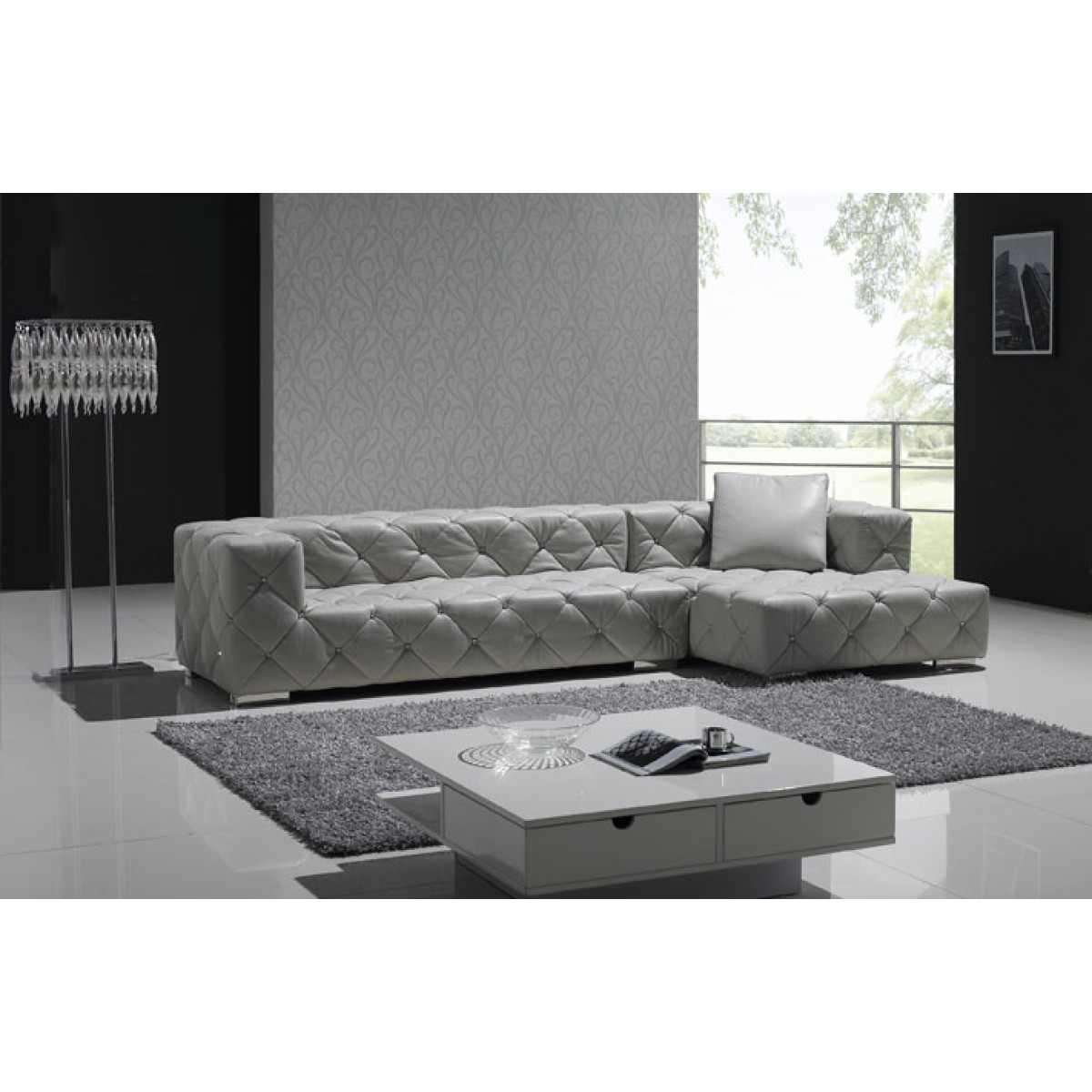 Canape angle chesterfield for Canape d angle arrondi cuir