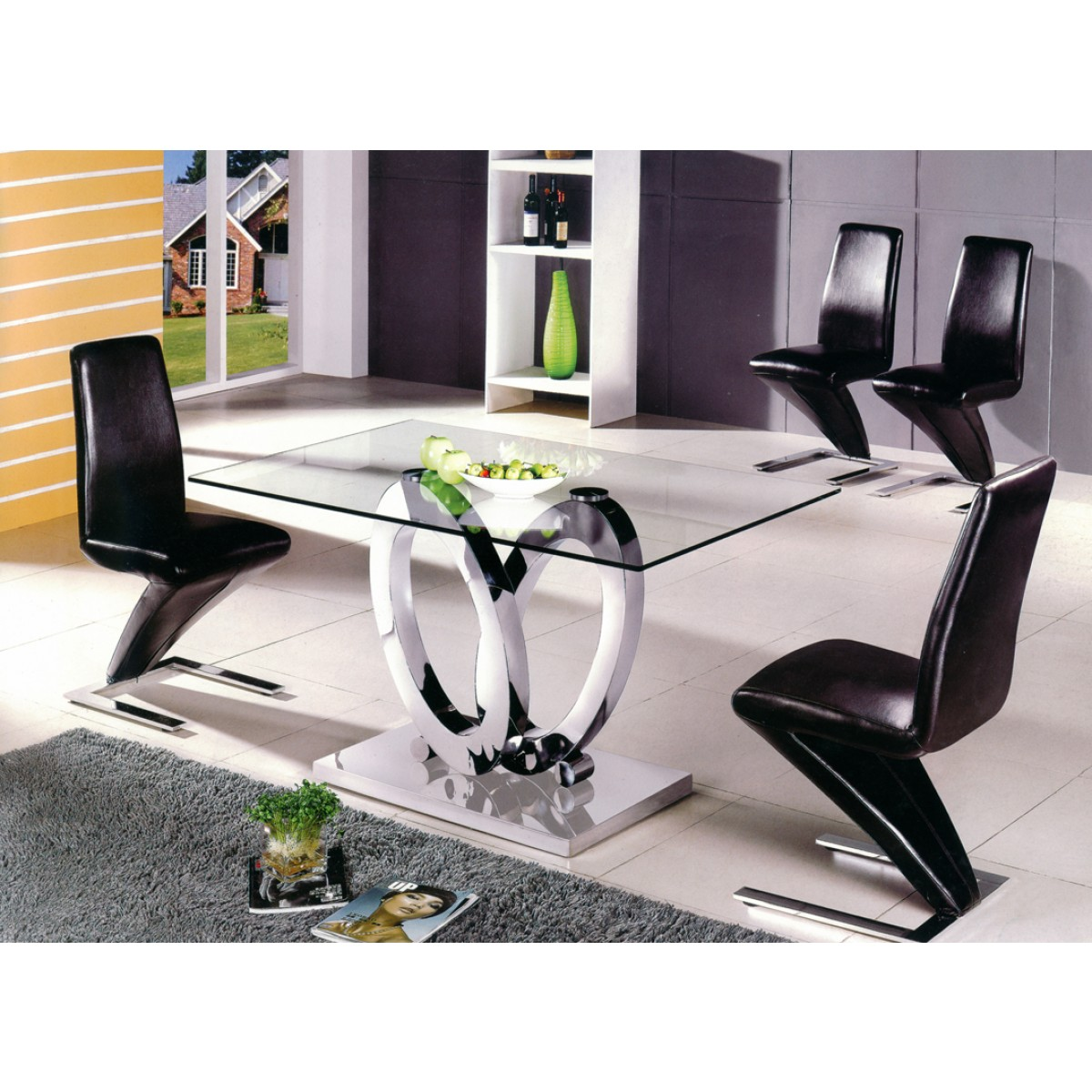 Table manger design ellipse taille au choix tables for Table de salle a manger noire