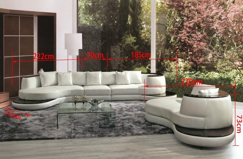 canap demi lune en cuir luna fauteuil canap s ronds. Black Bedroom Furniture Sets. Home Design Ideas