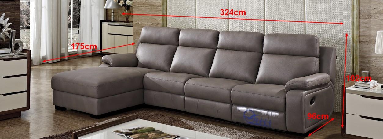 canap d 39 angle en cuir relax adrien pop. Black Bedroom Furniture Sets. Home Design Ideas