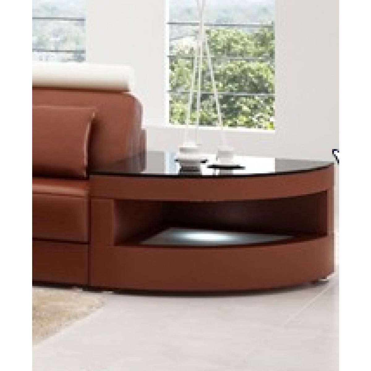 Canapé Éclairage Basse Intégrée Avec Table Au Almeria Nwvm8n0