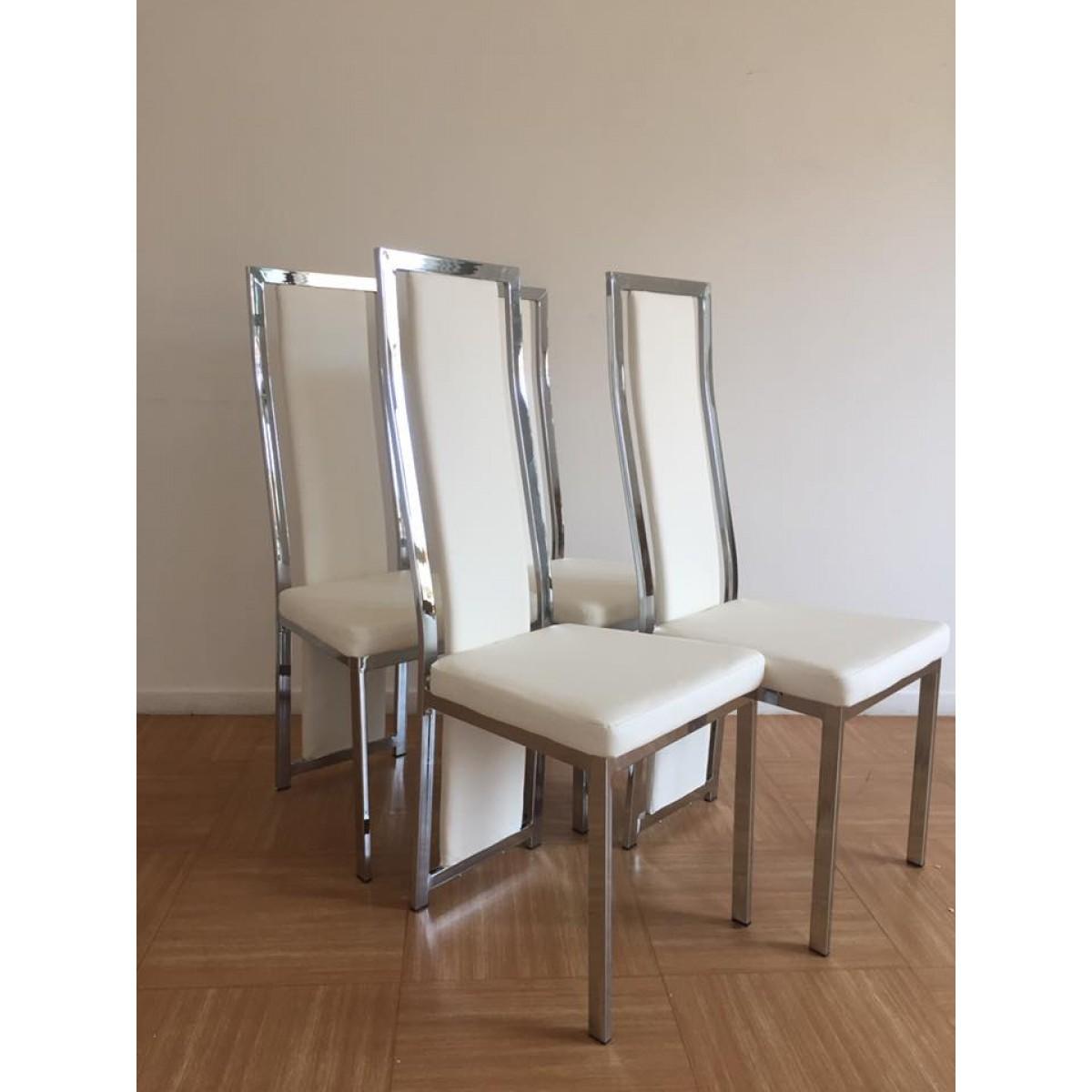 Salle A Manger Gris Blanc Noir chaise de salle à manger clara simili-cuir (noir, blanc