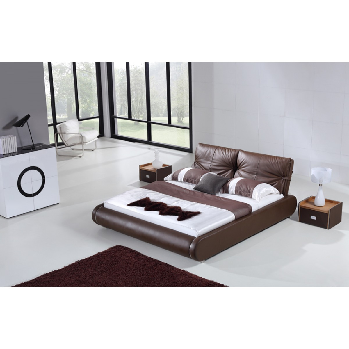 lit personnalisable richard 140 160 180 cuir ou pu option matelas lits. Black Bedroom Furniture Sets. Home Design Ideas