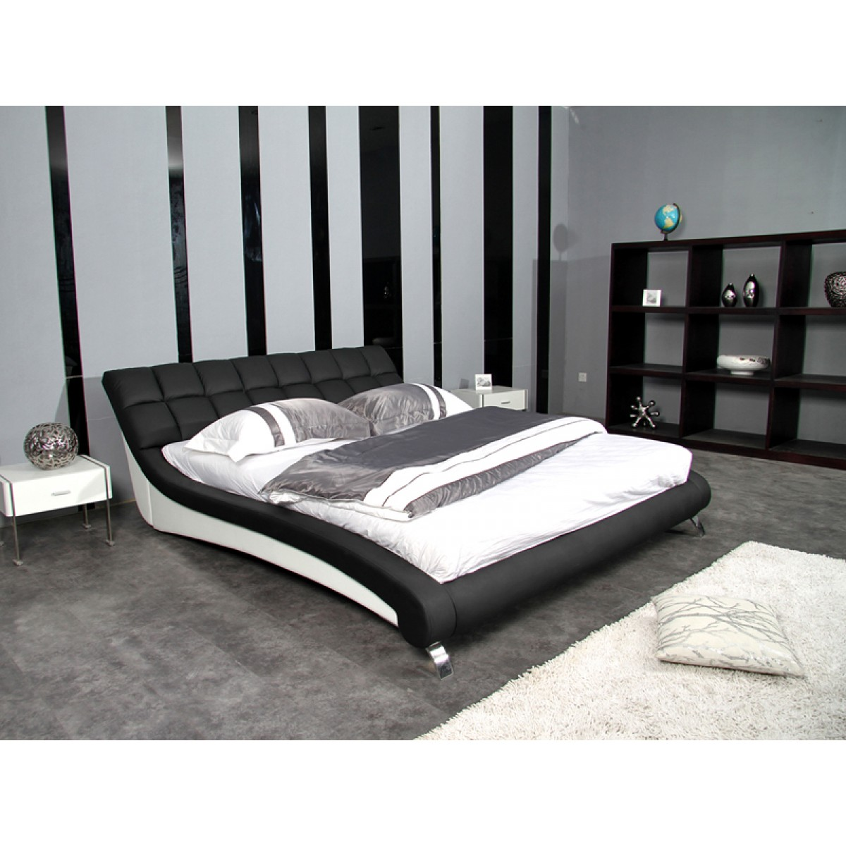 lit personnalisable malibu 140 160 180 cuir ou simili sommier optio. Black Bedroom Furniture Sets. Home Design Ideas