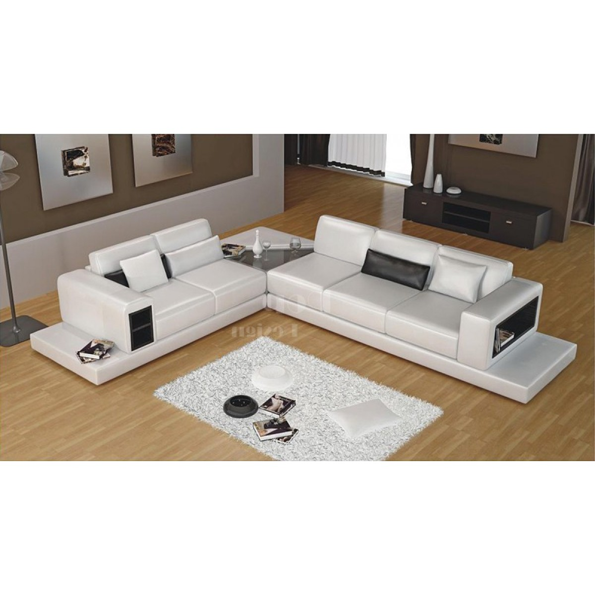 canap d 39 angle design en cuir arezzo xl table int gr e pop design. Black Bedroom Furniture Sets. Home Design Ideas