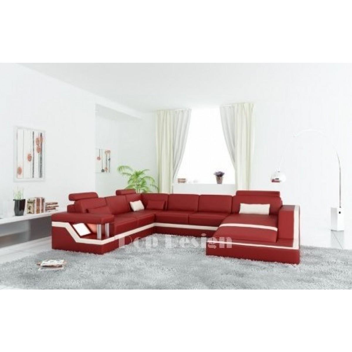 canap d 39 angle panoramique design en cuir tosca xl clairages. Black Bedroom Furniture Sets. Home Design Ideas
