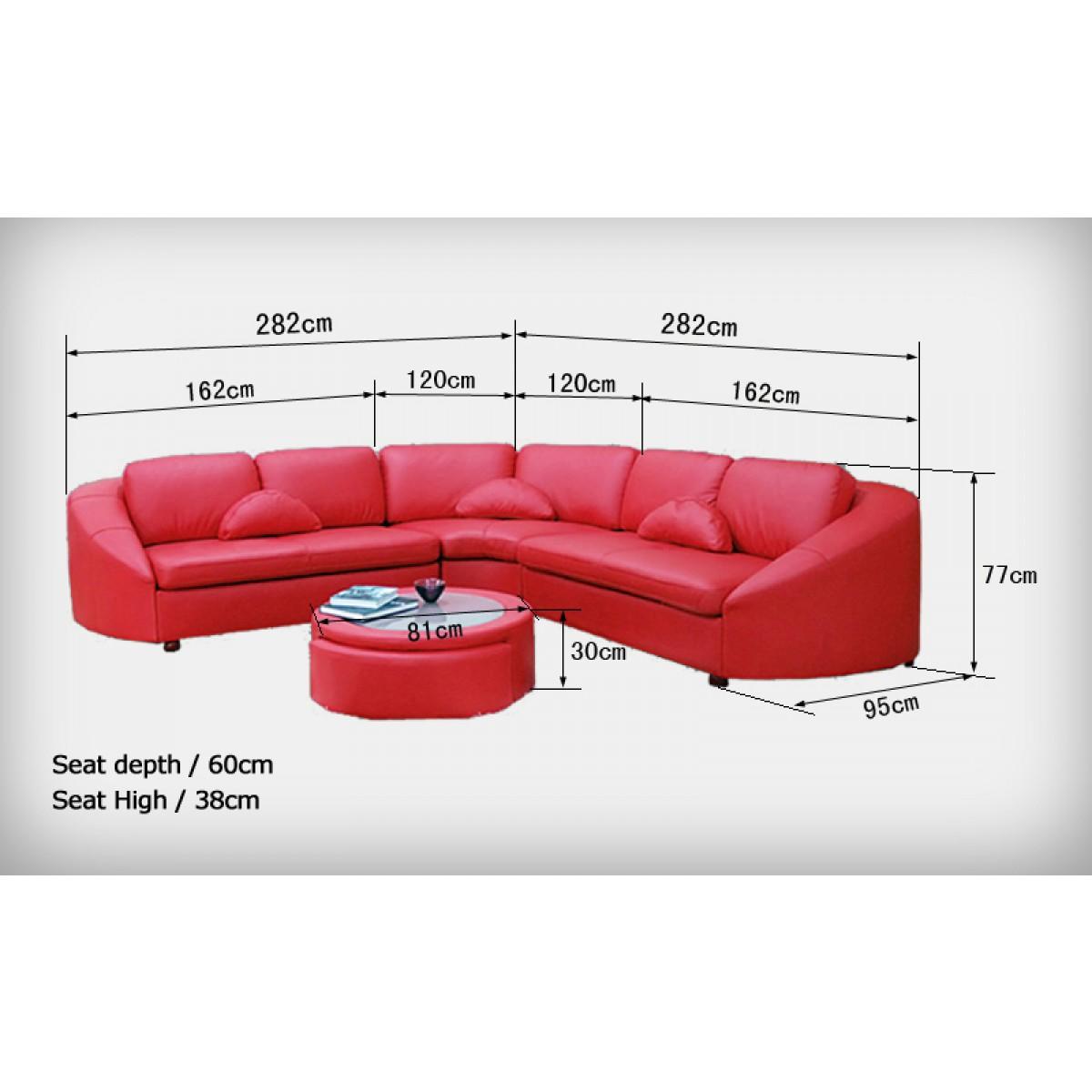 Canap d 39 angle en cuir 5 7 places aquilos - Dimension d un canape ...