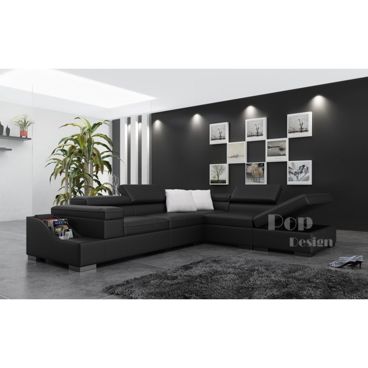 Grand canapé d angle en cuir JAZZY