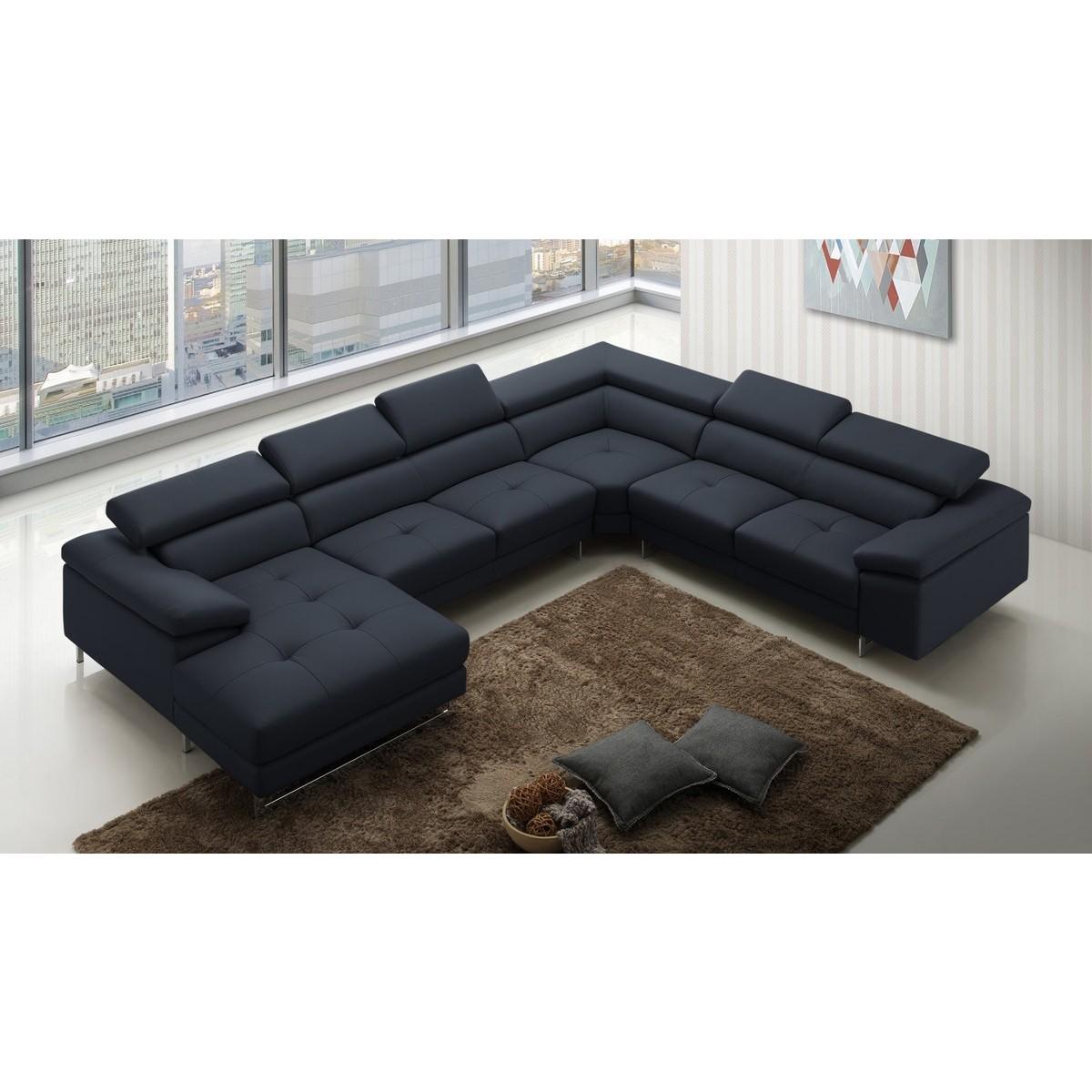 canap panoramique en cuir moss canap s en u. Black Bedroom Furniture Sets. Home Design Ideas