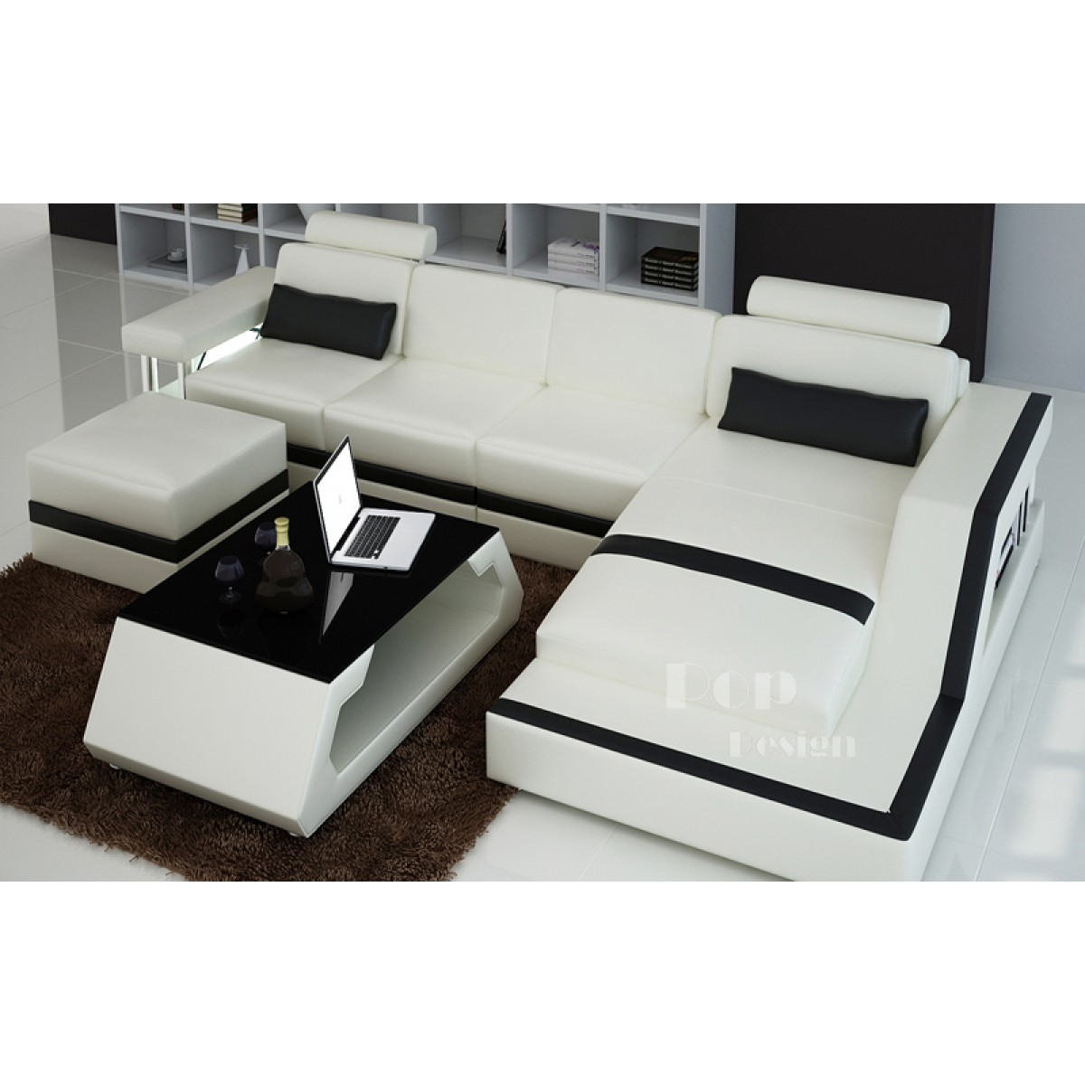 canape gris et blanc. Black Bedroom Furniture Sets. Home Design Ideas
