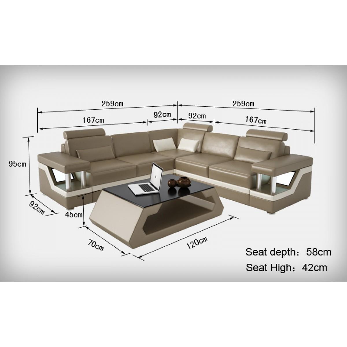 Canapé Dangle Design En Cuir Véritable Tosca L Lit Convertible - Longueur canapé 3 places