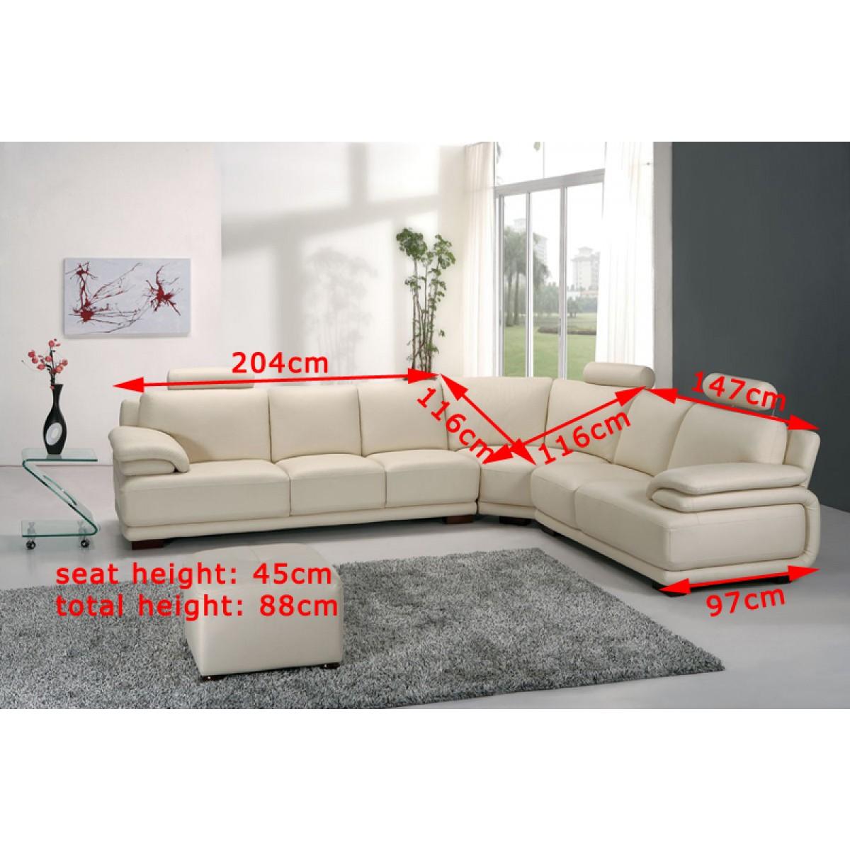 canap d 39 angle en cuir grenoble pouf pop. Black Bedroom Furniture Sets. Home Design Ideas