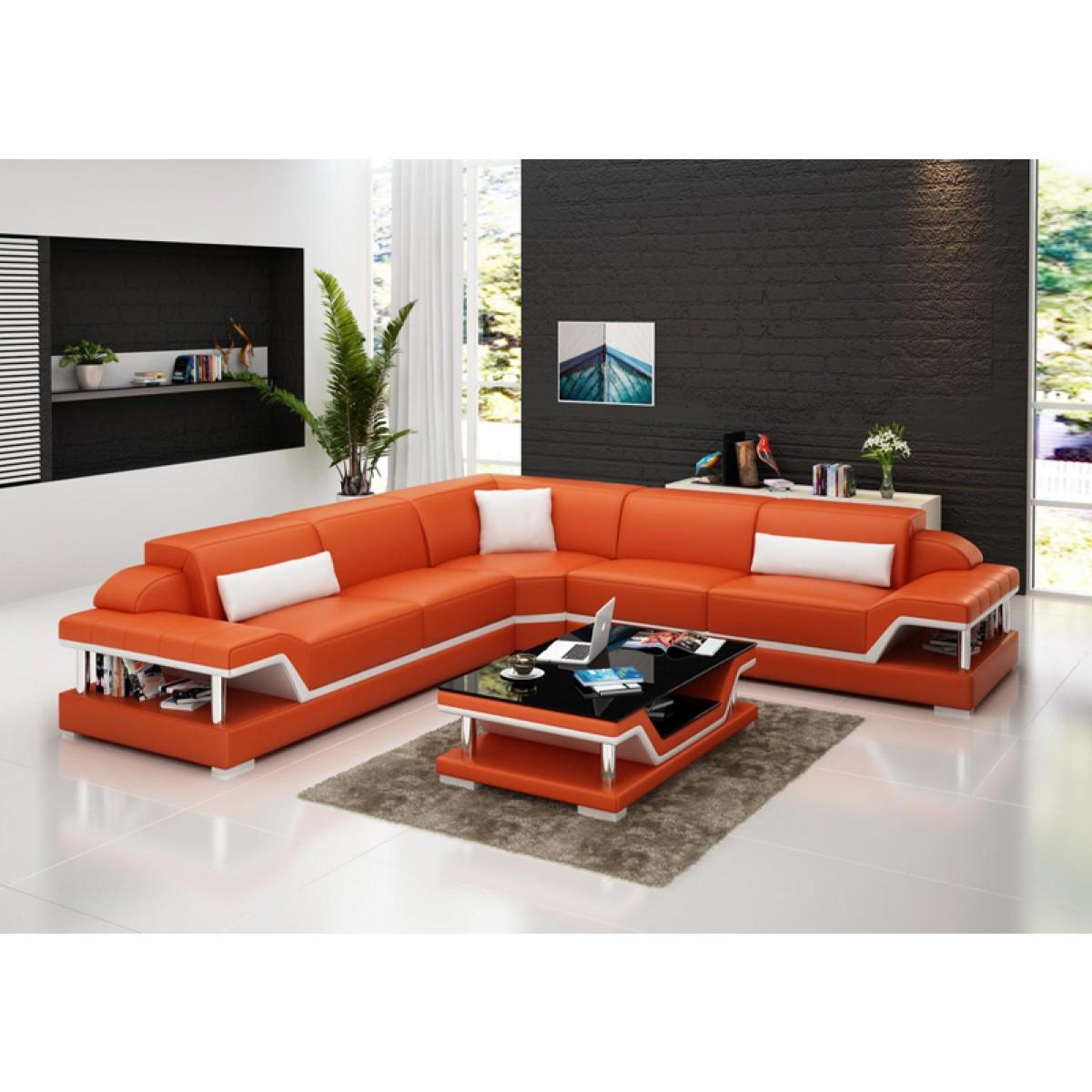 canap d 39 angle en cuir milano l relax pop. Black Bedroom Furniture Sets. Home Design Ideas