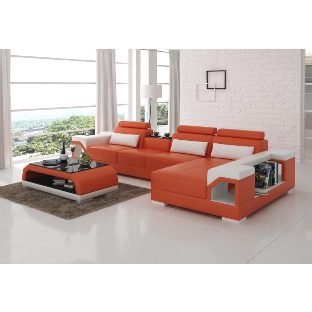 canap d 39 angle en cuir nimes option lit convertible pop design. Black Bedroom Furniture Sets. Home Design Ideas