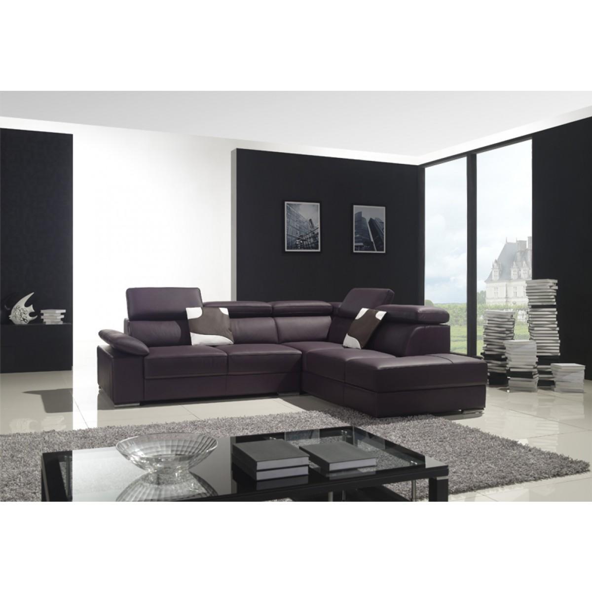 canap d 39 angle en cuir pleine fleur alvaro pop. Black Bedroom Furniture Sets. Home Design Ideas