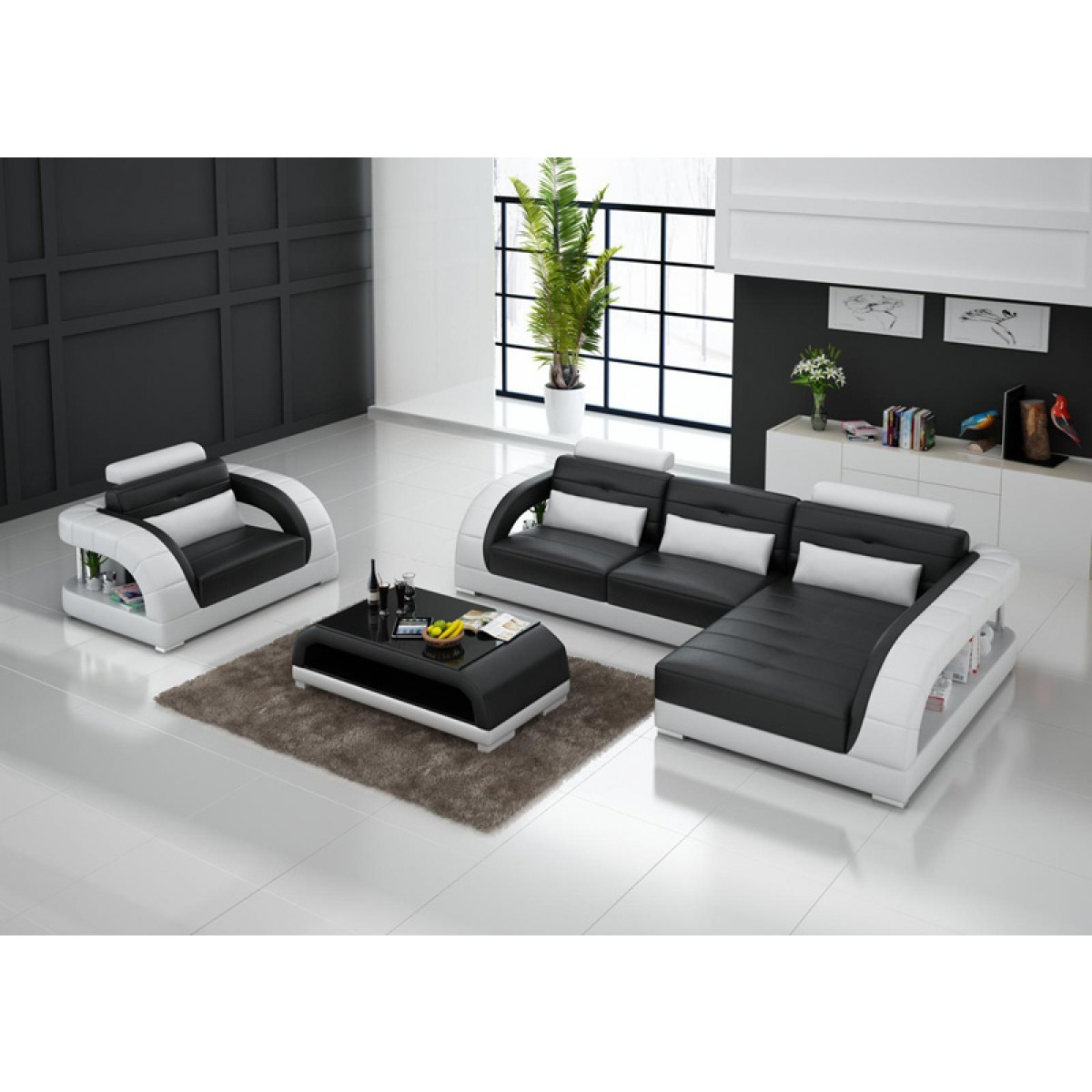 canap d 39 angle en cuir pleine fleur enzo fauteuil pop. Black Bedroom Furniture Sets. Home Design Ideas