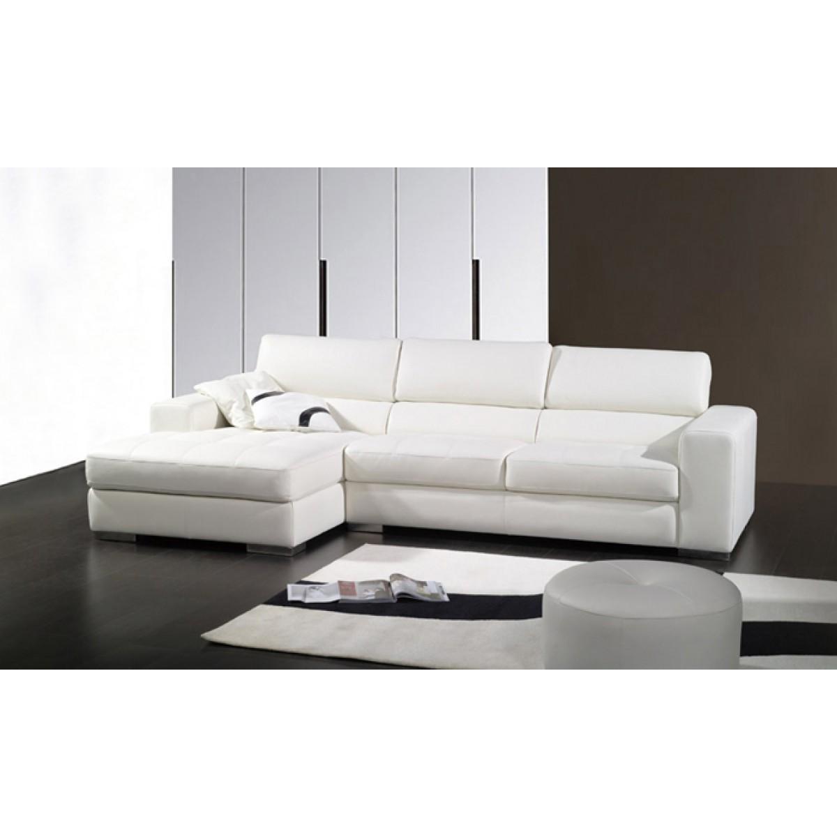 canap d 39 angle en cuir pleine fleur valence pop. Black Bedroom Furniture Sets. Home Design Ideas