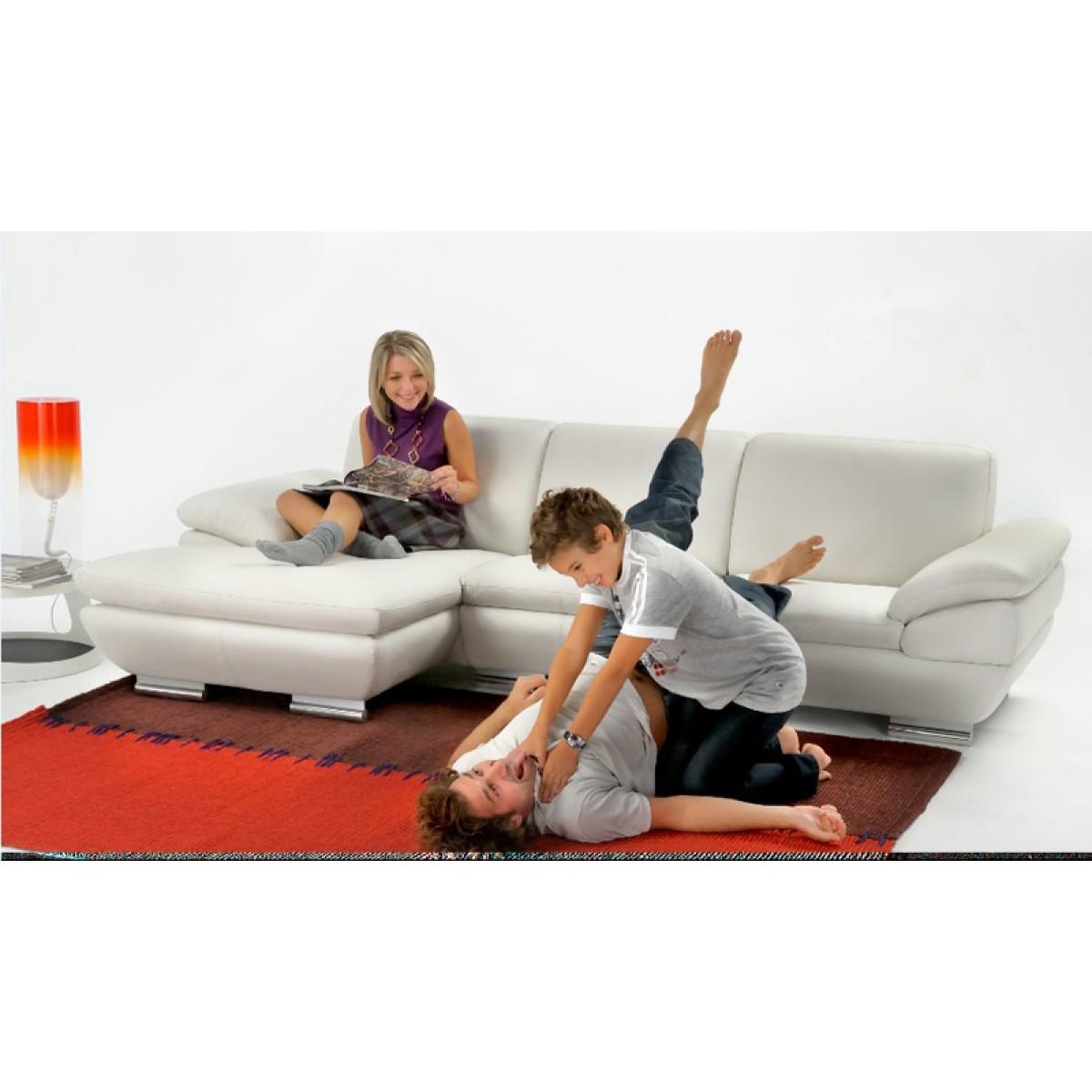 canap d 39 angle en cuir provence. Black Bedroom Furniture Sets. Home Design Ideas