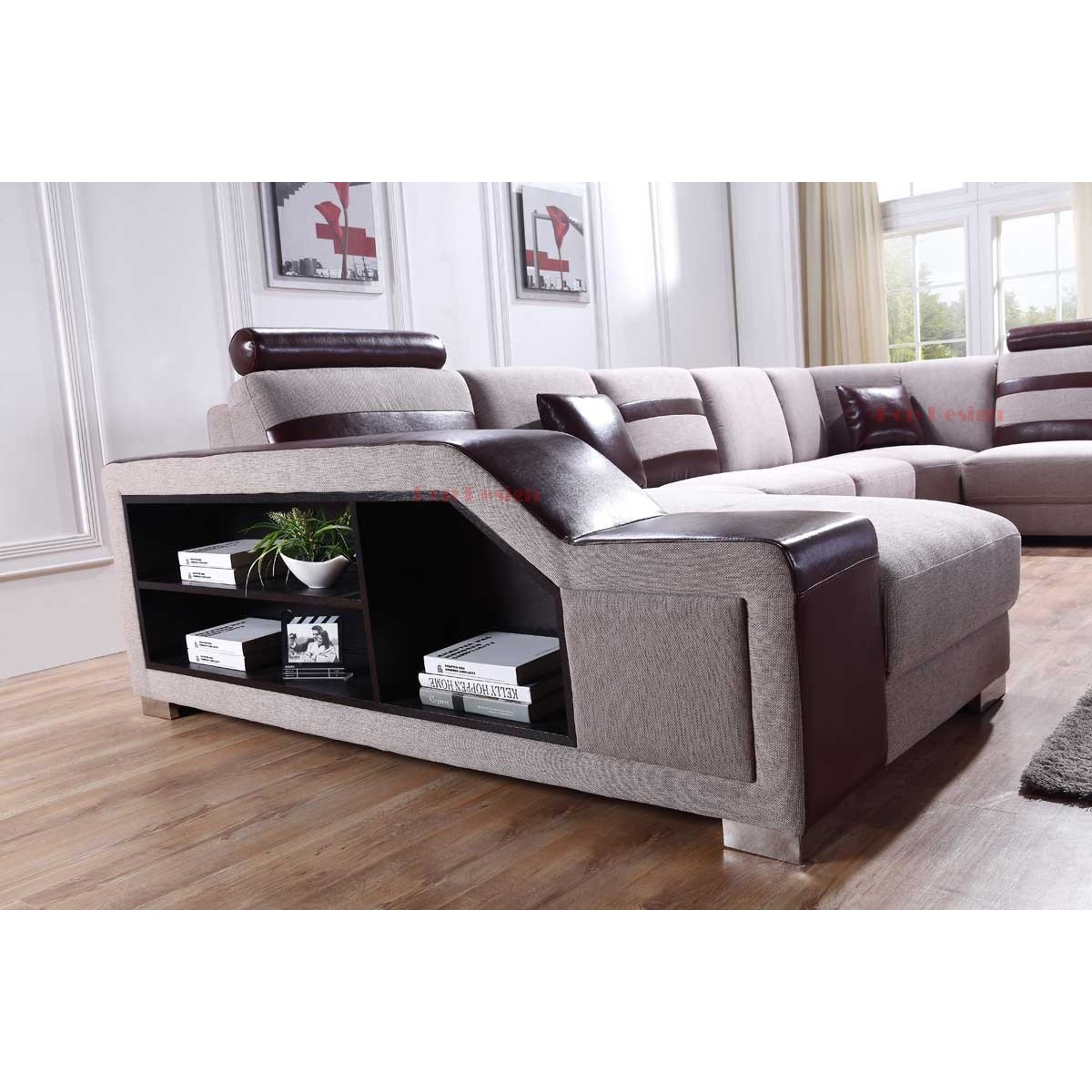 canap panoramique en microfibre castel canap s en tissu canap s. Black Bedroom Furniture Sets. Home Design Ideas