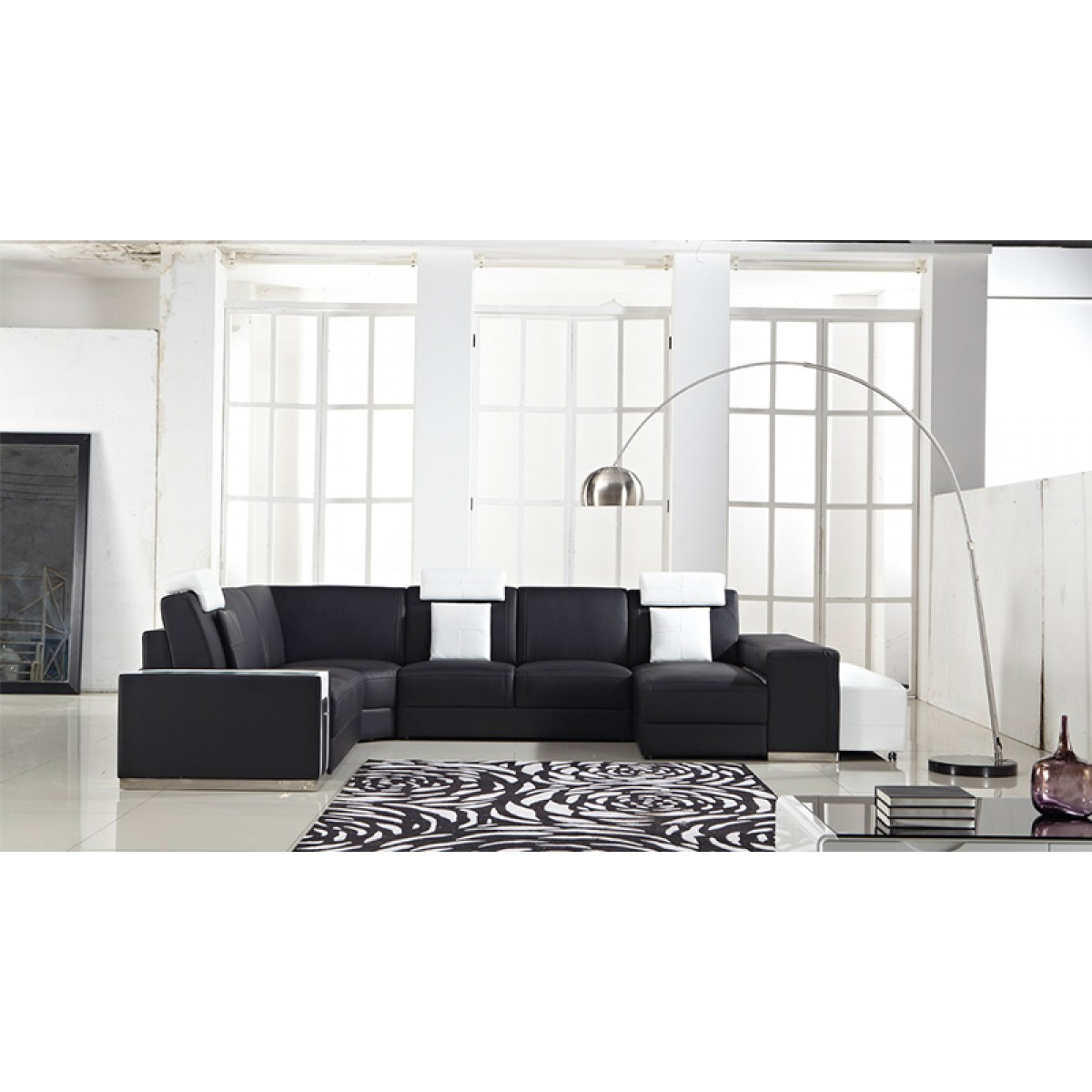 canape d angle avec pouf maison design. Black Bedroom Furniture Sets. Home Design Ideas