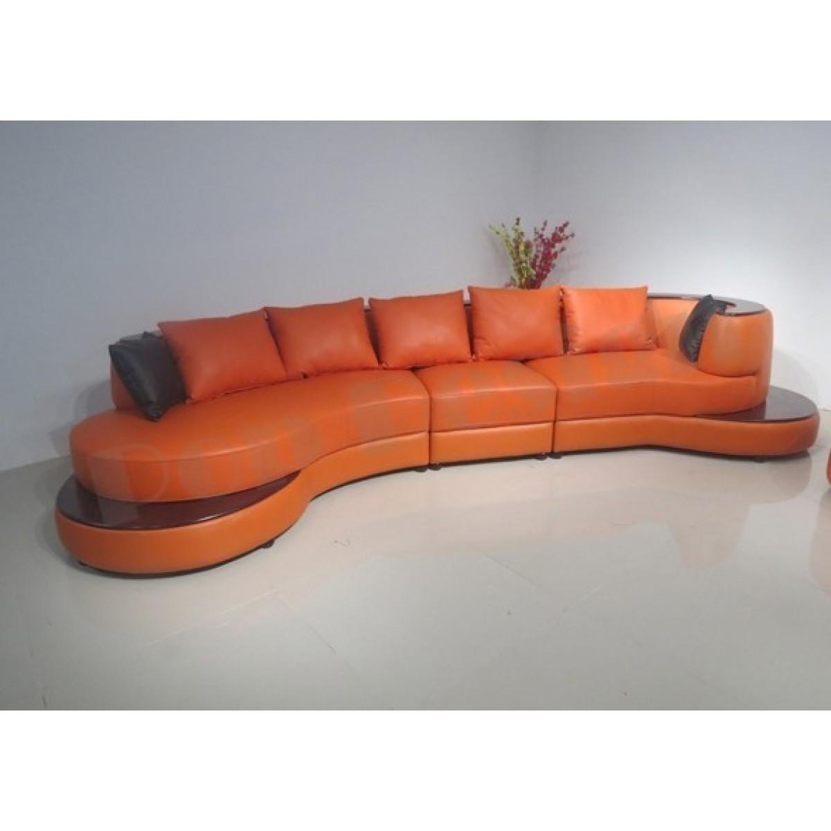 canap demi lune en cuir luna fauteuil. Black Bedroom Furniture Sets. Home Design Ideas