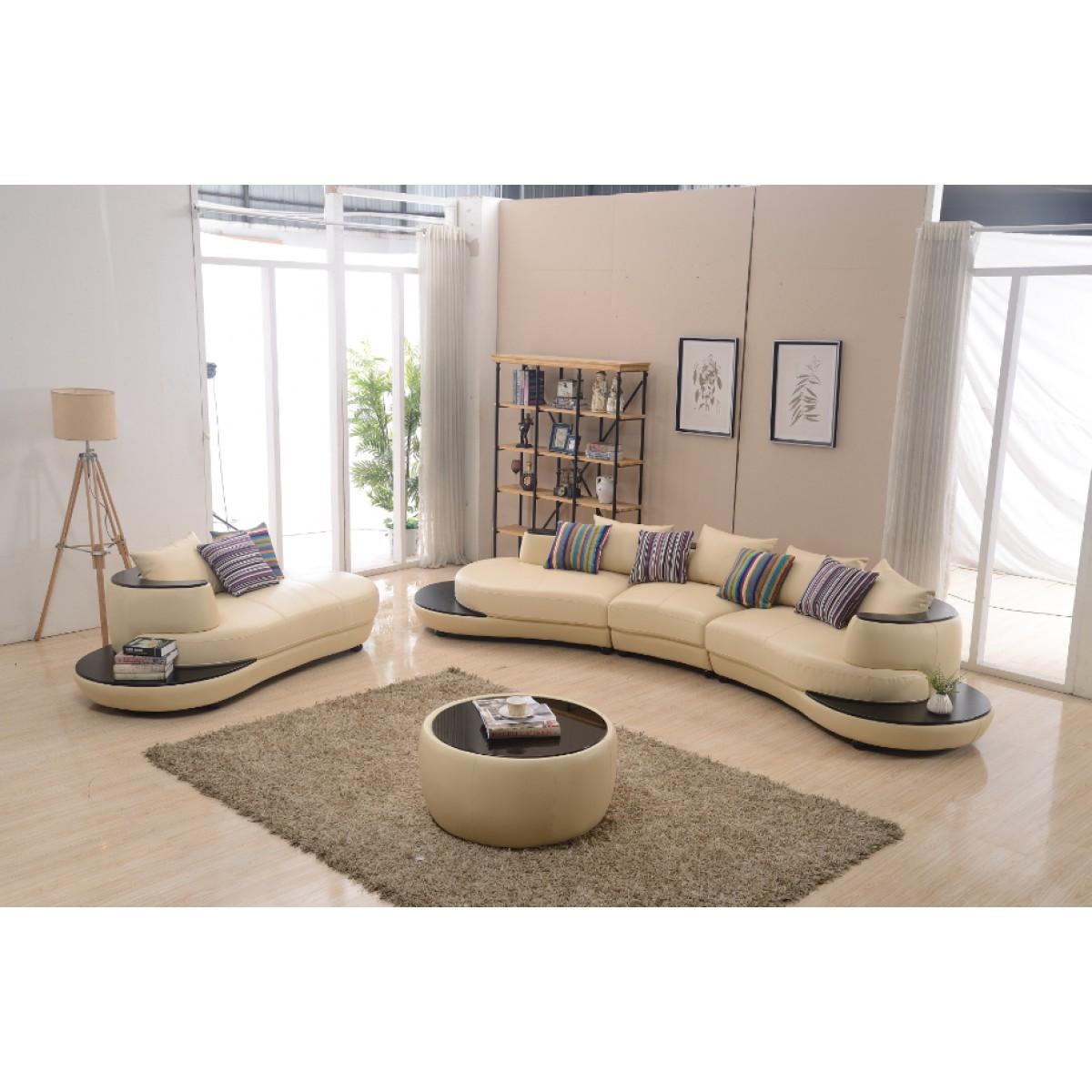 canap demi lune en cuir irma canap s. Black Bedroom Furniture Sets. Home Design Ideas