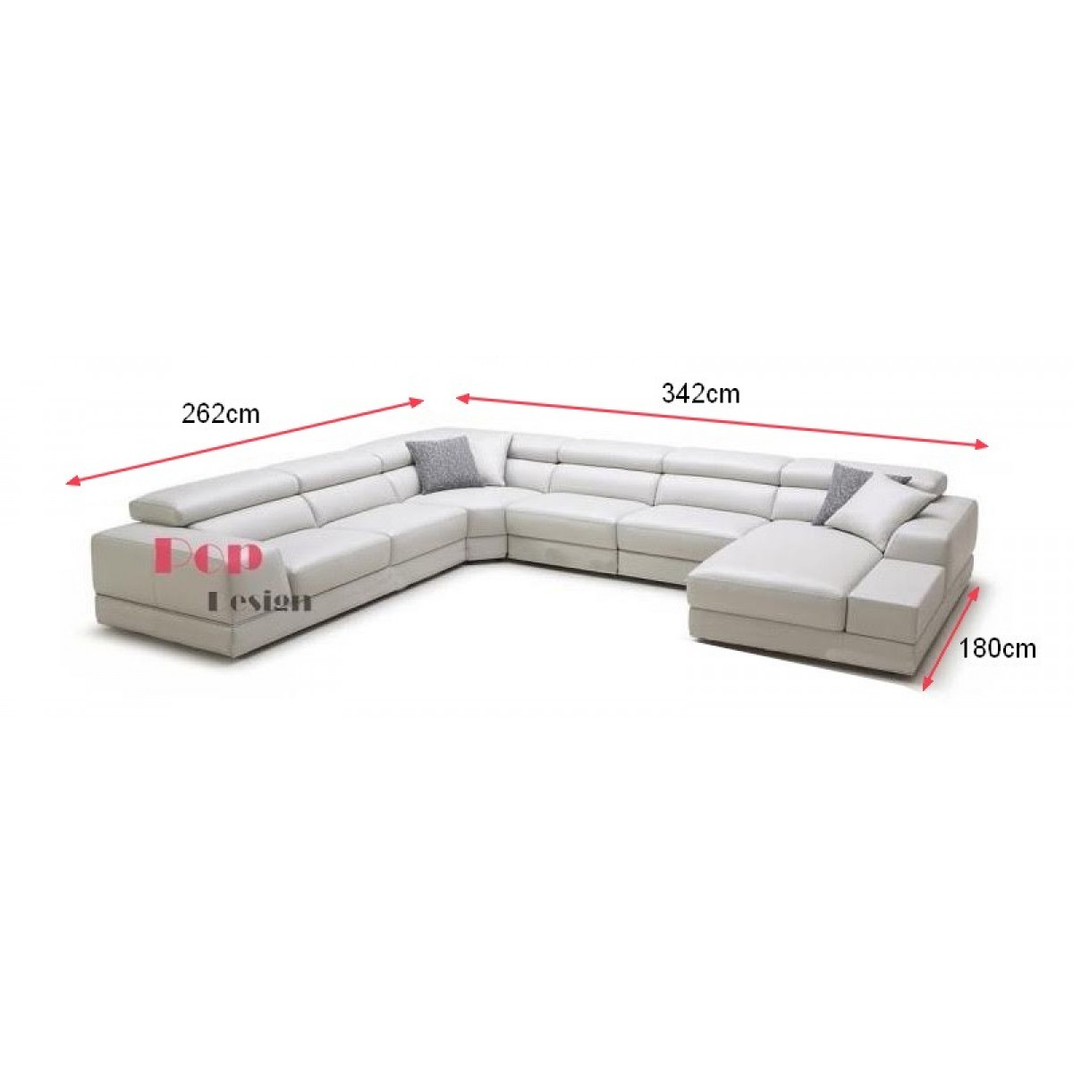 Canap d 39 angle panoramique relax en cuir v ritable palermo - Dessus de canape d angle ...