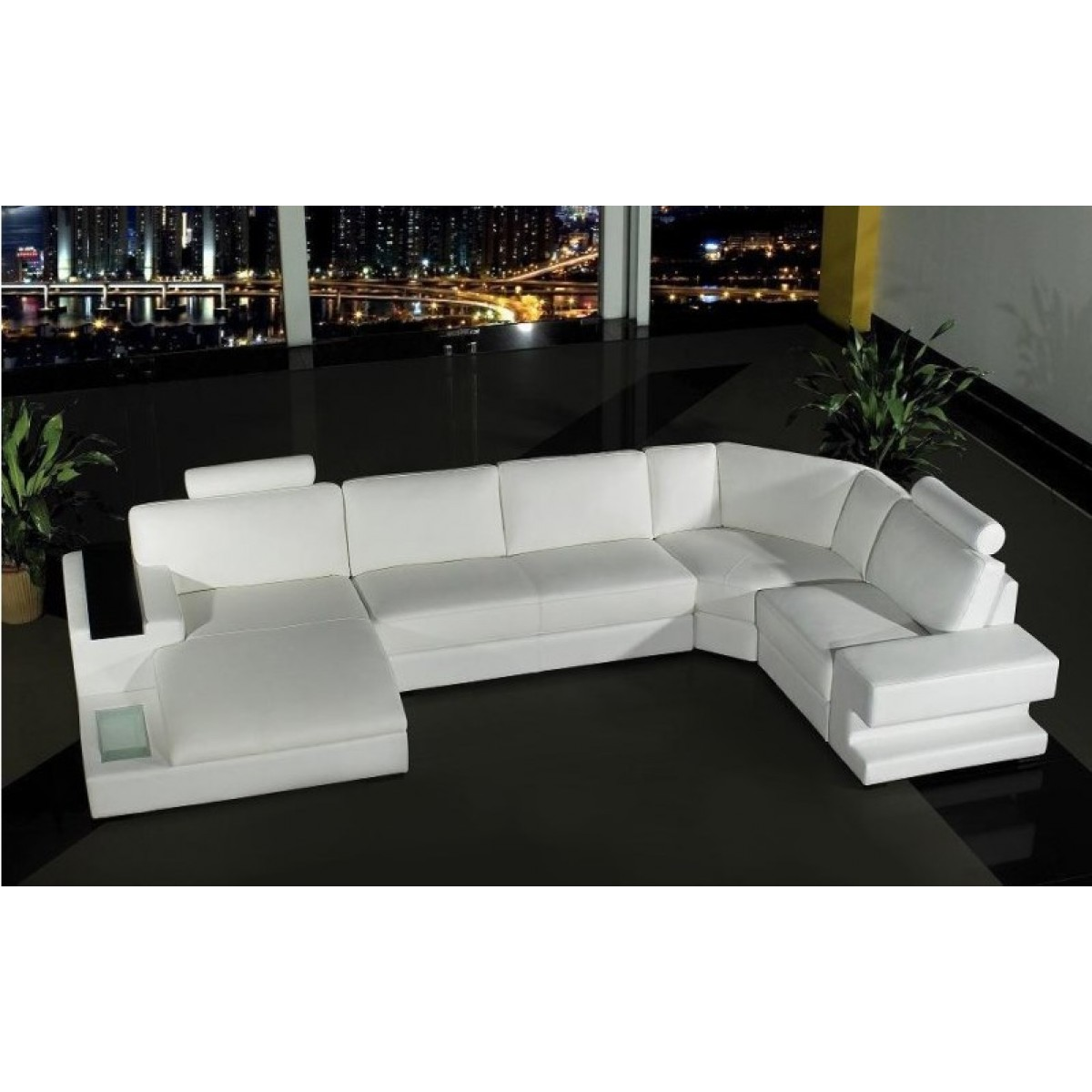 canap d 39 angle panoramique en cuir v ritable phoenix pop. Black Bedroom Furniture Sets. Home Design Ideas