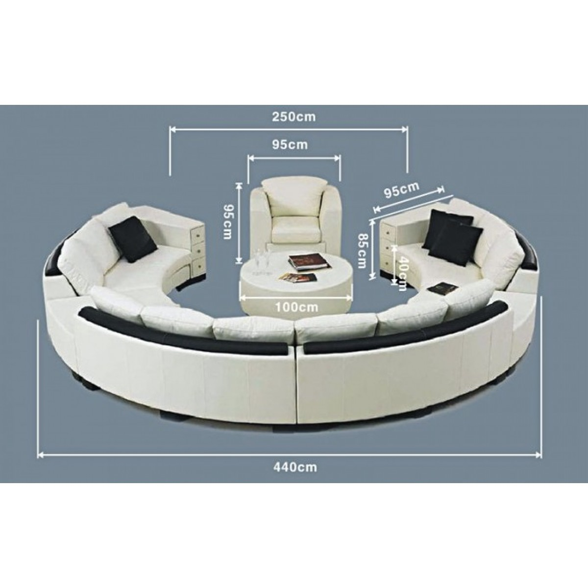 canap rond en cuir alicante 3 modules 3 places pop. Black Bedroom Furniture Sets. Home Design Ideas