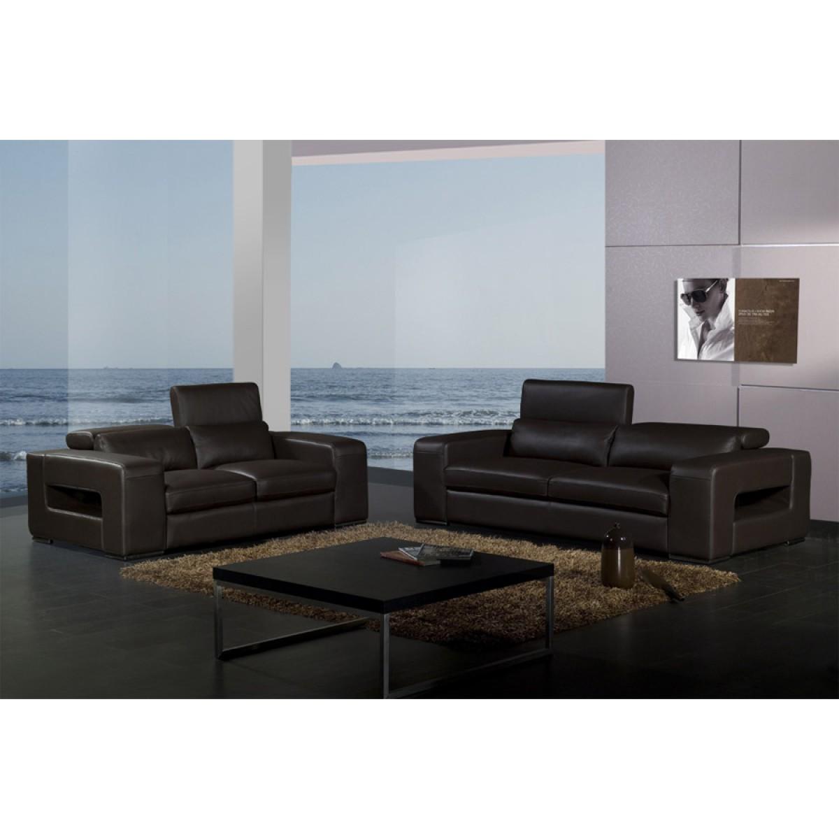 canap s set 3 2 1 en cuir pleine fleur walter pop. Black Bedroom Furniture Sets. Home Design Ideas