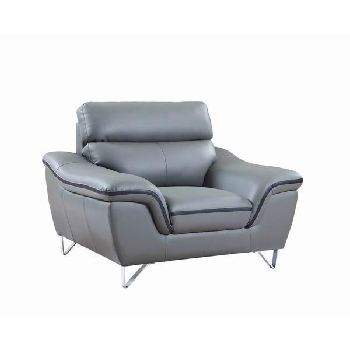 Fauteuil canapés en cuir set personnalisable design DIEGO
