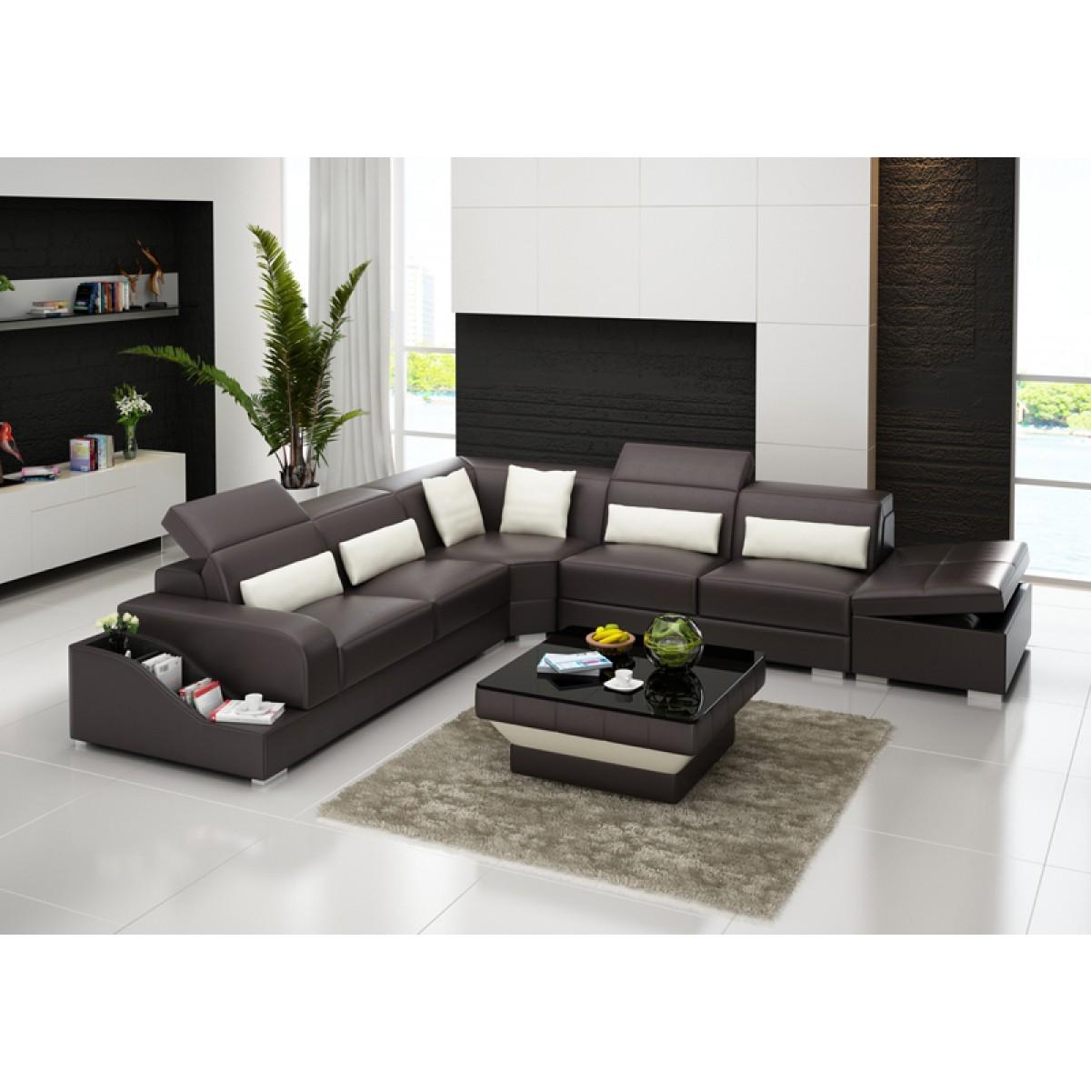grand canap d 39 angle en cuir pleine fleur jazz coffre int gr pop. Black Bedroom Furniture Sets. Home Design Ideas