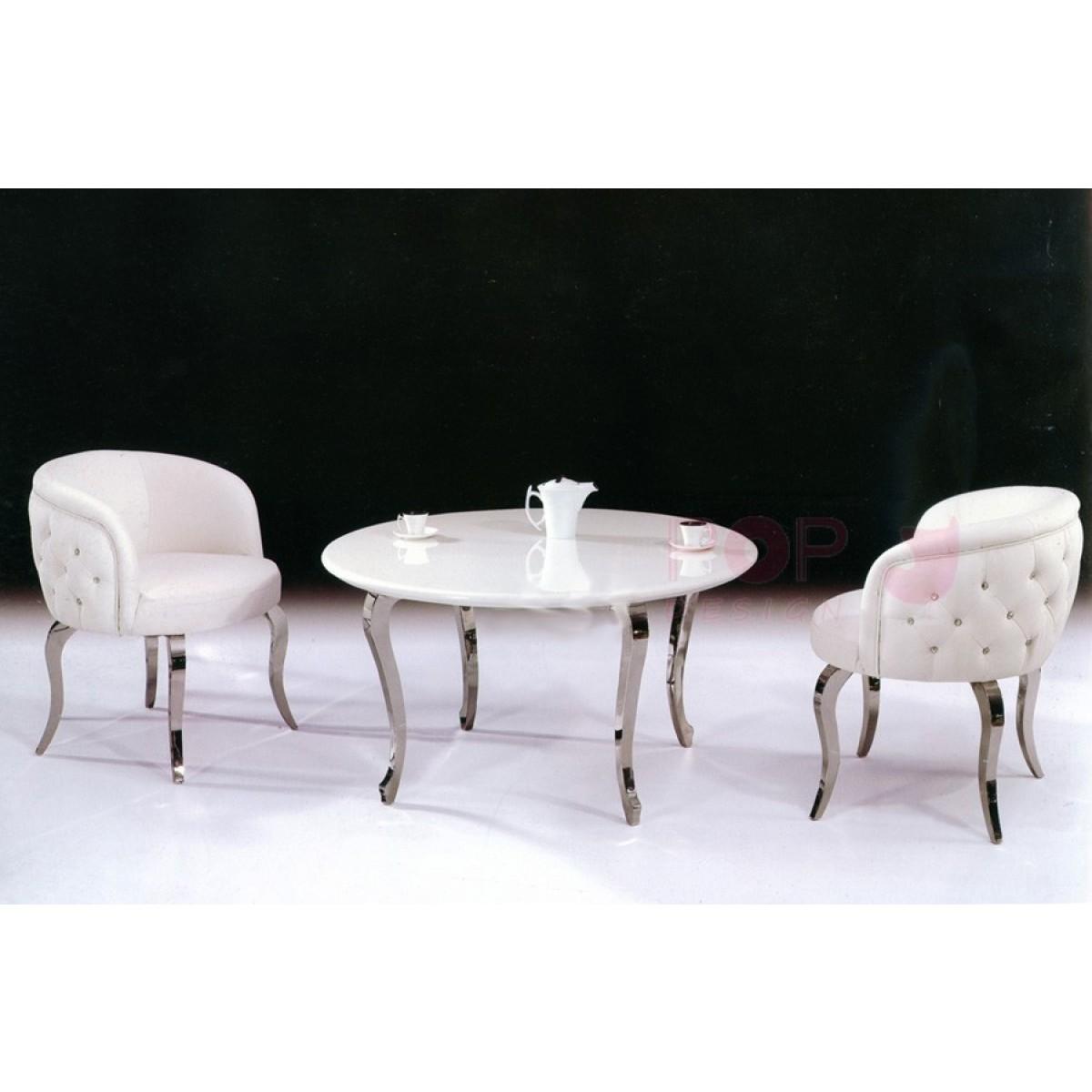 Table basse en marbre et inox boudoir for Table basse marbre design