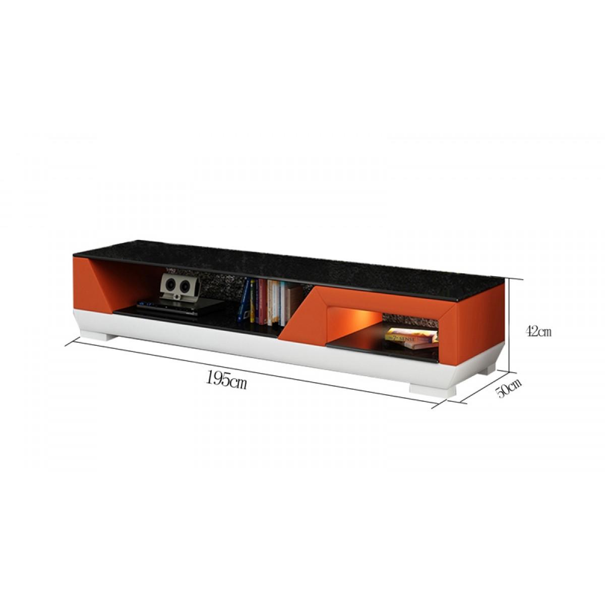 Meuble tv design personnalisable klin pu aspect cuir pop - Meuble personnalisable ...