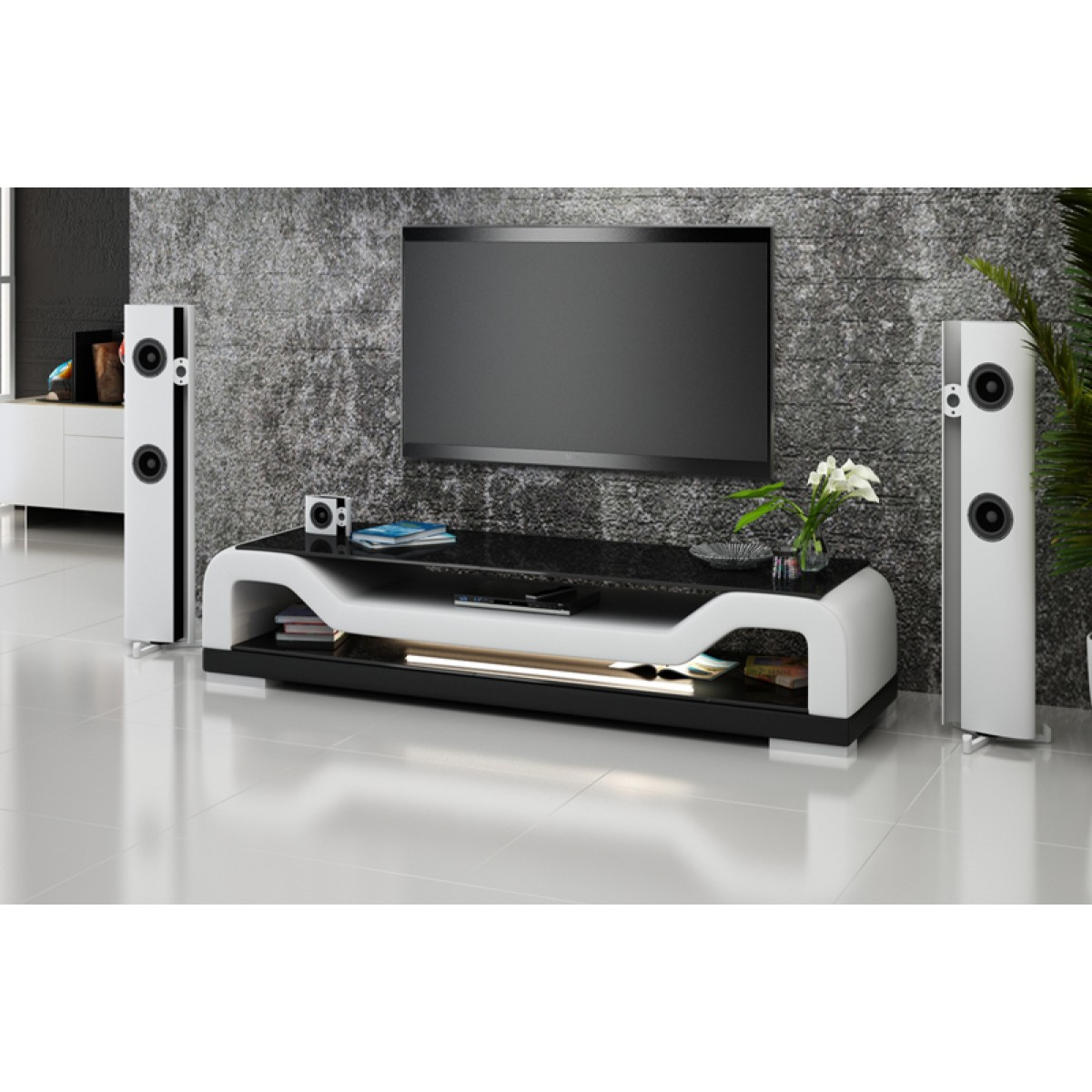 Meuble tv design personnalisable torino pop for Meuble de tele design