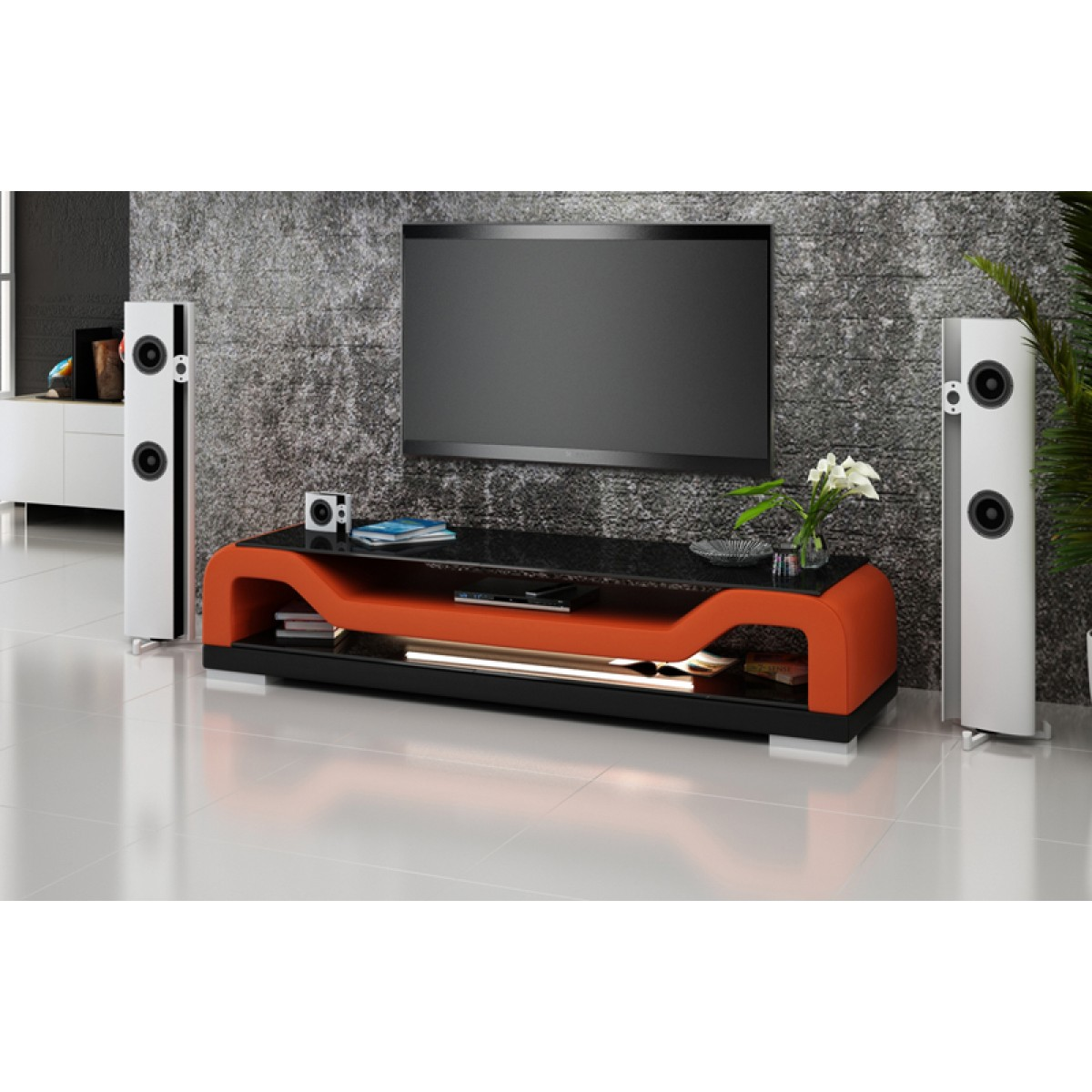 meuble tv design personnalisable torino pop. Black Bedroom Furniture Sets. Home Design Ideas