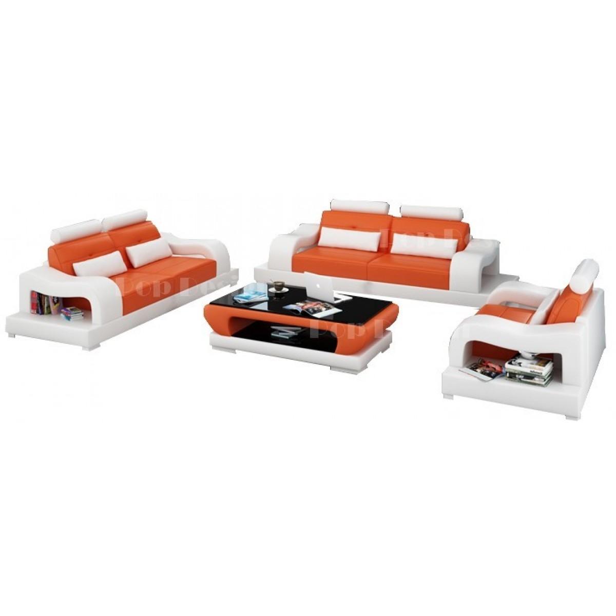 set de canap s personnalisables en cuir aix pop. Black Bedroom Furniture Sets. Home Design Ideas