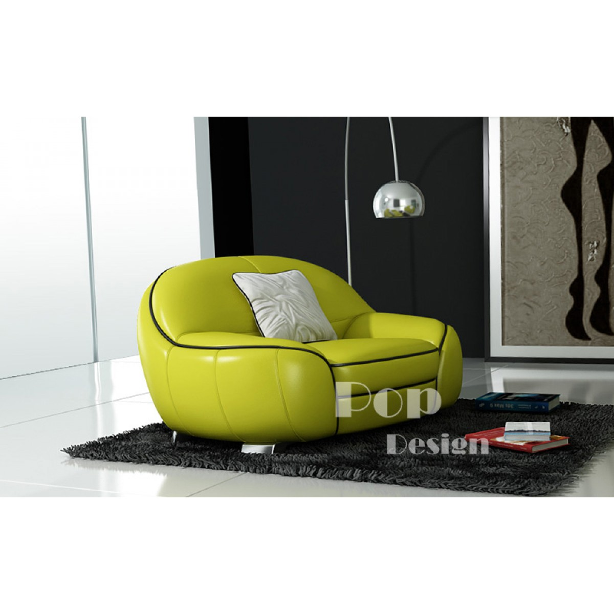 Canap s en cuir design club pop - Fauteuil 2 places design ...