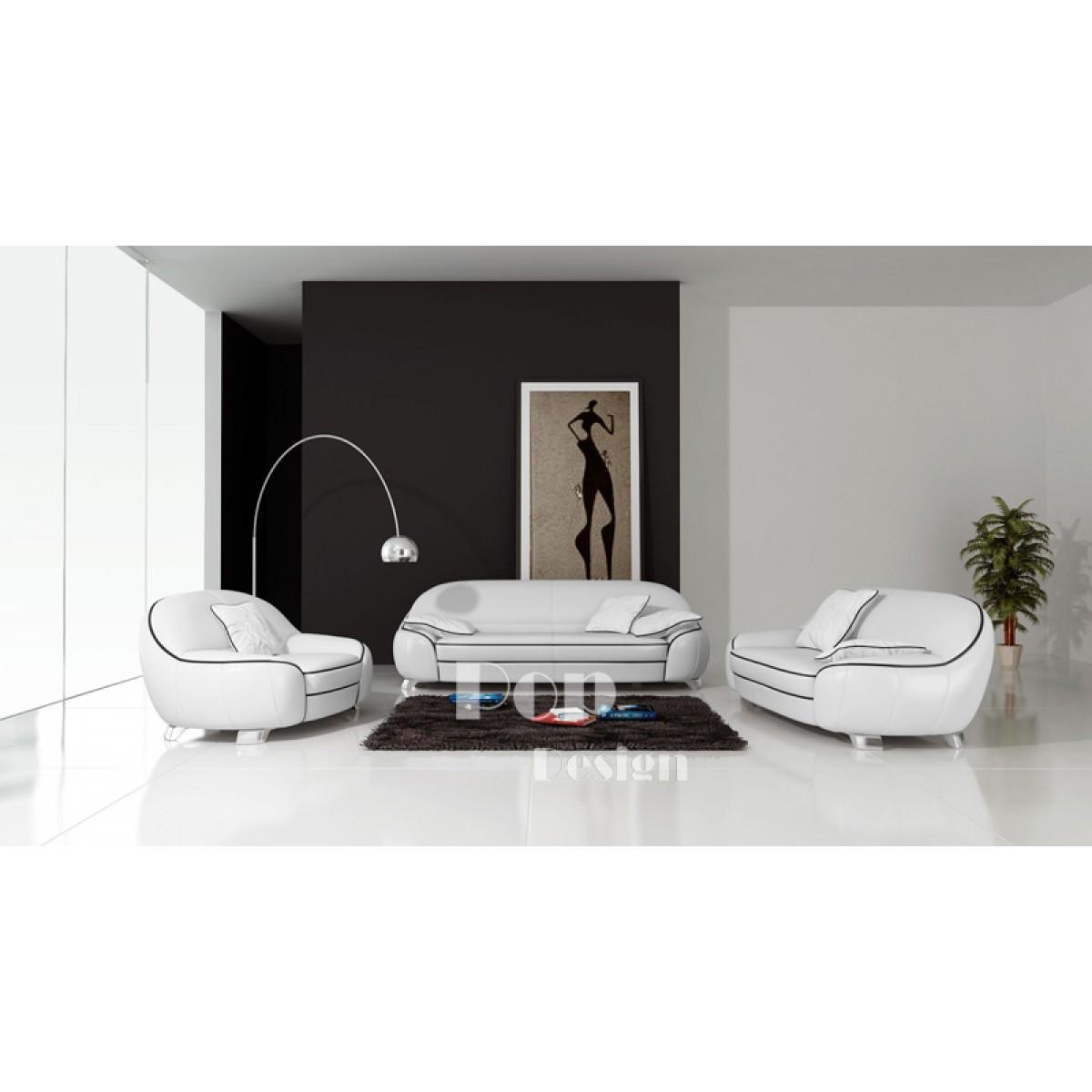 Canapés En Cuir Design Club Popdesignfr - Canapé 3 places pour conseiller decoration interieur