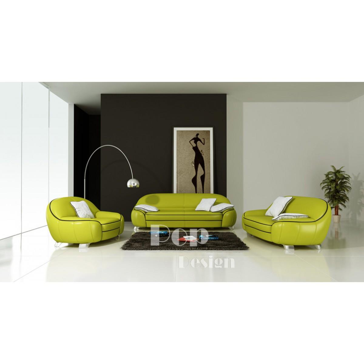 Canap s en cuir design club pop for Set de salon liquidation