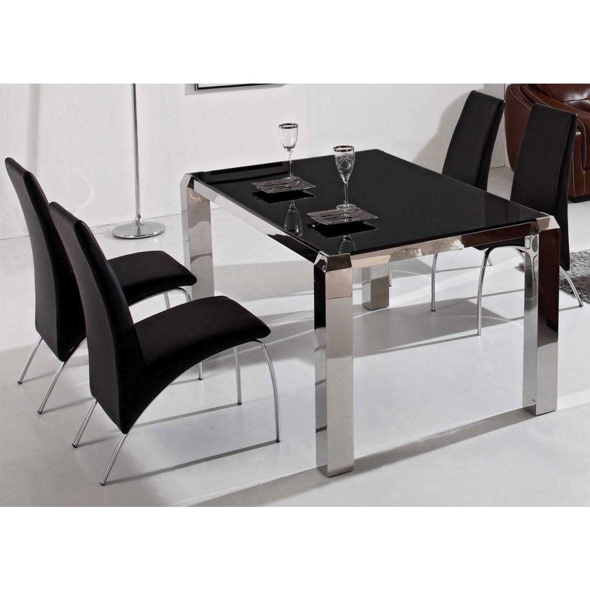 table de salle manger en inox neuilly. Black Bedroom Furniture Sets. Home Design Ideas