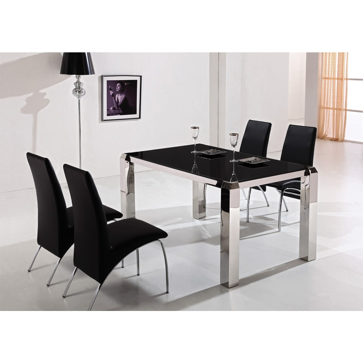 Table en inox neuilly tables de salle manger tables consoles - Destockage table a manger ...