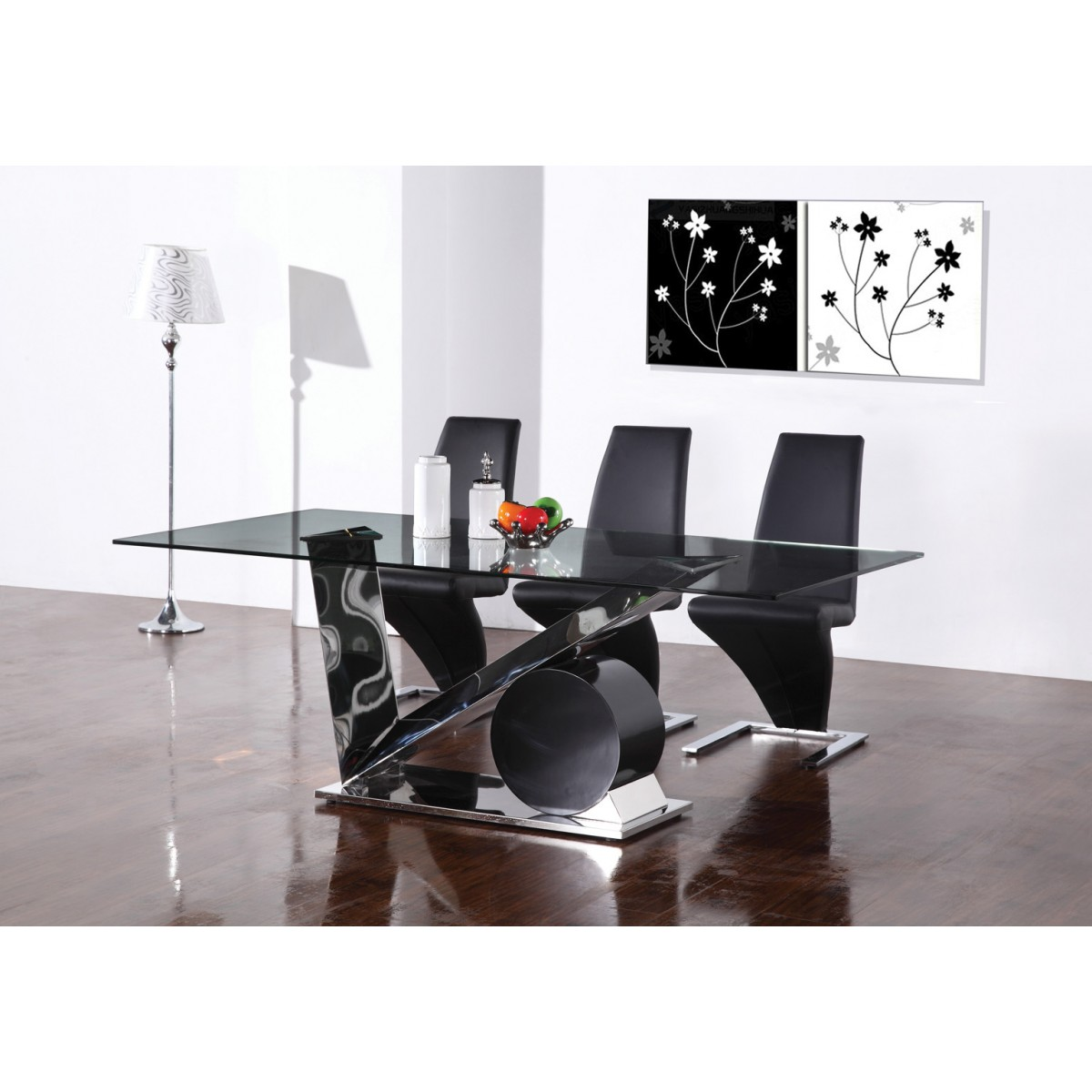 formidable set de table pour table en verre 4 table salle manger inox verre valdiz. Black Bedroom Furniture Sets. Home Design Ideas