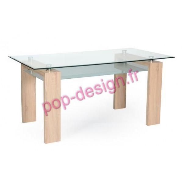 Table De Salle À Manger Gloria Chêne Griffé 150x80