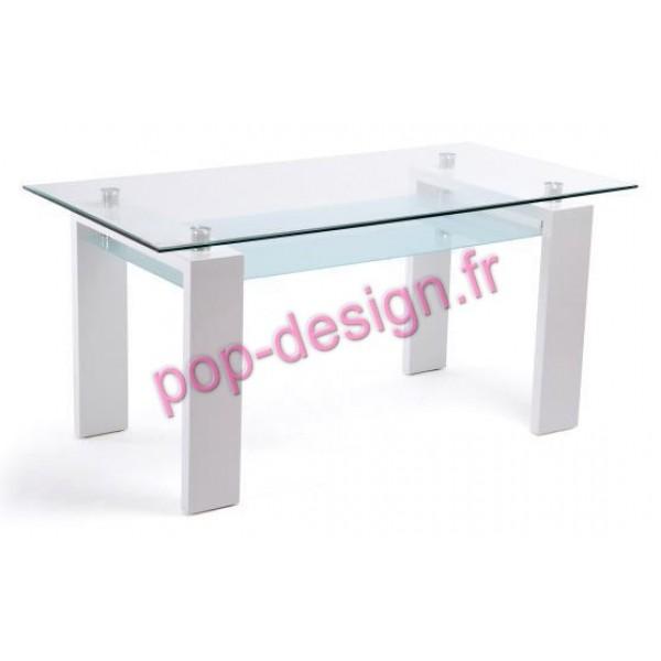 Table De Salle À Manger Gloria Blanc 150x80